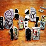 Peças diversas com Fordite - Michelle Spanyard