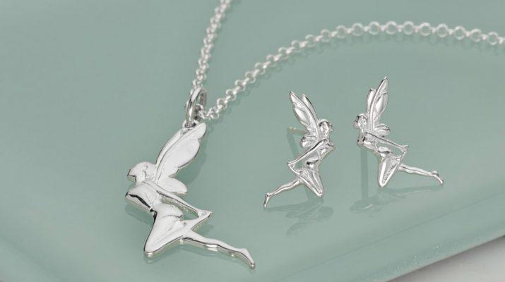 Conjunto de colar e brincos de fadas em prata - Lily Charmed