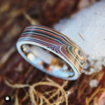Anel com Fordite - MN Handcradted